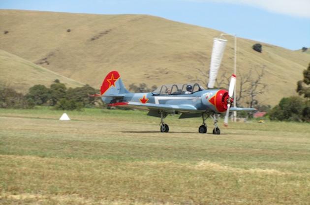 YAK landing at Barossa Airshow 2012