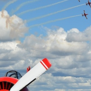 Yak 52 with Roulettes Formation