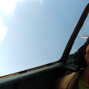 Jack on the downside of a loop at the Jamestown Airshow
