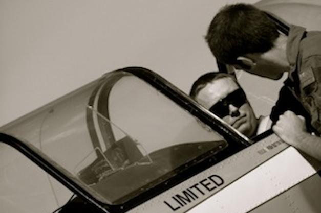 Geoff in cockpit briefing